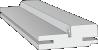 Межкомнатная дверь - Коробка с упл. Эмаль Polar (телескоп.)