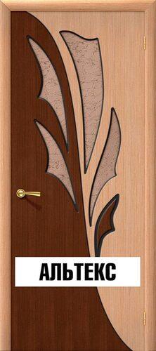 Межкомнатная дверь - Дуэт Ф-01 (Дуб)