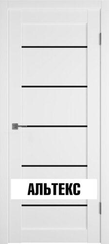 Межкомнатная дверь - Emalex 27 Black Gloss Emalex Ice