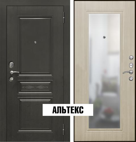 Входные двери - SD Prof-10 Троя-Зеркало Светлый дуб