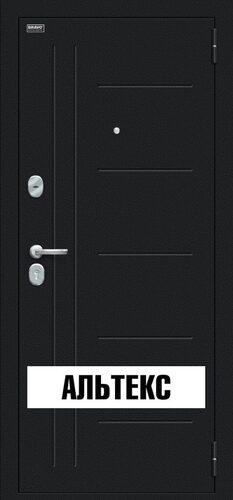 Входная дверь - Проф Букле черное/Bianco Veralinga