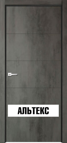 Межкомнатная дверь - Севилья 21 Бетон темный