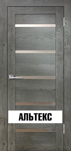 Межкомнатные двери - Бавария 15 3Д-Люкс Дуб эдисон серый