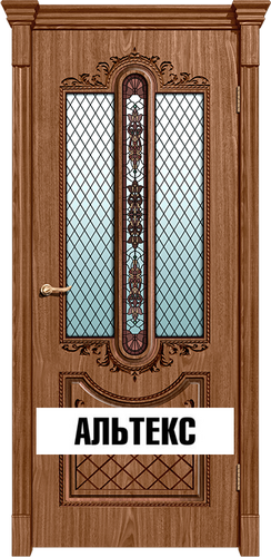 Межкомнатная дверь - Муар Орех натуральный 2