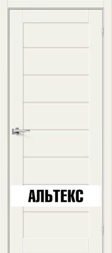 Межкомнатная дверь - Брав-22 White Mix