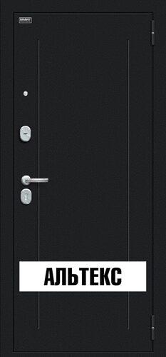 Входная дверь - Флэш Букле черное/Bianco Veralinga
