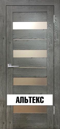 Межкомнатные двери - Бавария 02 3Д-Люкс Дуб эдисон серый