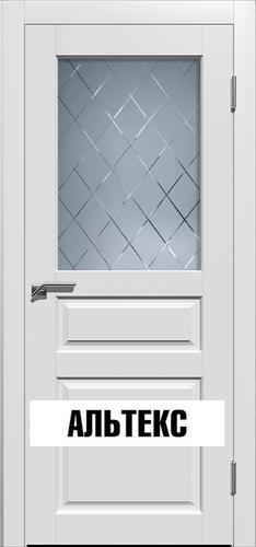 Межкомнатные двери - Гранд 3 РАЛ 9003