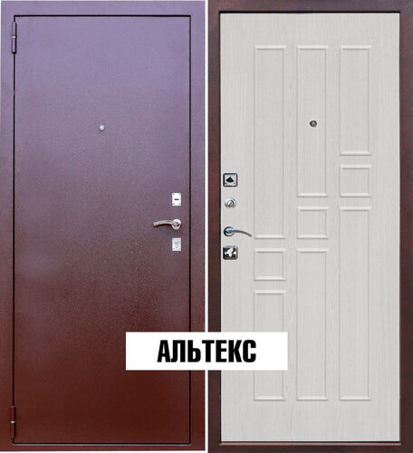Входная дверь - Гарда 8мм. Белый ясень