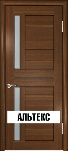 Межкомнатная дверь - Лу-27 Тёмный орех