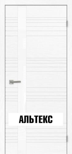 Межкомнатная дверь - Сити 1 стекло белое РАЛ 9010