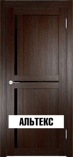 Межкомнатная дверь - Берлин 01 ДО (Лакобель) Дуб темный