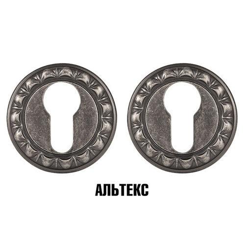 Межкомнатная фурнитура - Накладка под цилиндр ET MT OS-9 Античное серебро