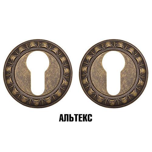 Межкомнатная фурнитура - Накладка под цилиндр ET MT OB-13 Античная бронза