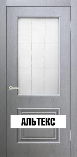 Межкомнатная дверь - Роял 2 остекленная Серый