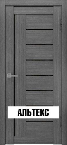 Межкомнатная дверь - Лу-17 лакобель черный Серый