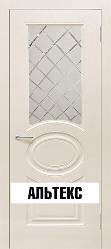 Межкомнатная дверь - Роял 1 остекленная Шампань