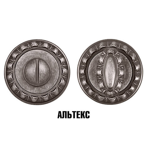 Межкомнатная фурнитура - Поворотный BK6 MT OS-9 Античное серебро
