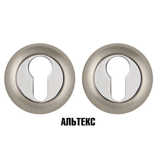 Межкомнатная фурнитура - Накладка под цилиндр ET TL SN/CP-3 Матовый никель/хром