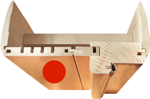 Фурнитура для Руссо Ф-11 (Орех). Доборы для межкомнатной двери.