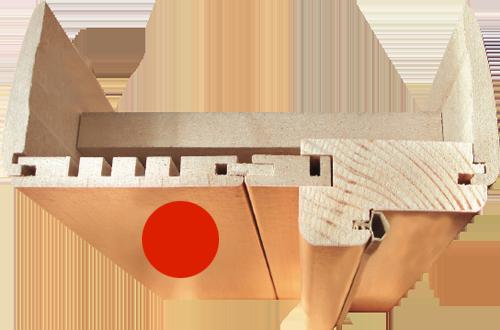 Фурнитура для S-13 Stamp Wenge Veralinga. Доборы для межкомнатной двери.