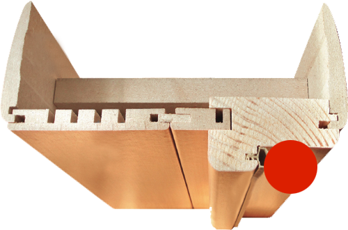 Фурнитура для 5С Л-12 (МиланОрех). Коробка для межкомнатной двери.