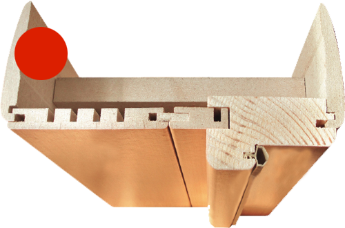 Фурнитура для Соло-0.V Ф-22 (БелДуб). Наличники для межкомнатной двери.