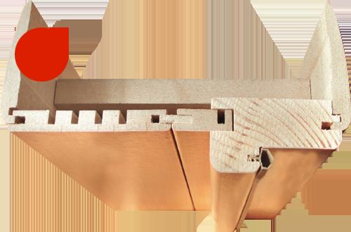 Фурнитура для Классико-12 Cappuccino Softwood. Наличники для межкомнатной двери.
